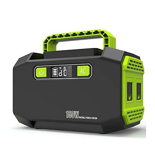 Z&LEI Estación de inversor de Respaldo de Emergencia de generador de energía portátil con 80V / 220V Outlets de Doble CA, 2 Puertos USB 3 Puertos al Aire Libre
