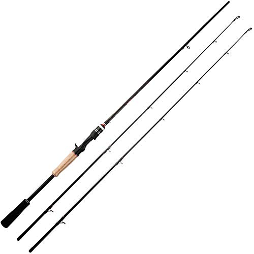 BERRYPRO 7-Feet Casting rods and Spinning rods, 24 Ton Carbon Fiber Baitcasting Fishing Rods - Two Piece Twin-Tip Rods and One Piece Rods (Twin-tip Casting - 7' M & MH - 2pcs)