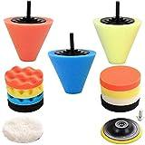 Car Buffers and Polishers Kit for Drill, 14Pcs Drill Polishing Wheel Foam Ball Buffing Pads Sponge Ball for Automotive Car Wheels Hub Care, Metal, Plastic, Ceramic and Glass