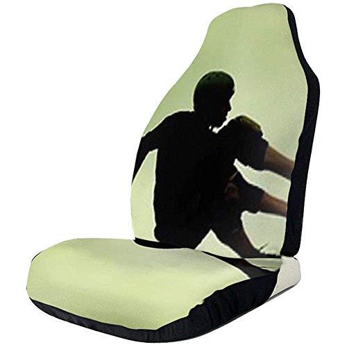 2 stuks autostoelhoezen complete set – met skateboard bedrukte autostoelhoezen, autostoelhoezen voor de meeste auto-, vrachtwagen-, SUV- of van-modellen