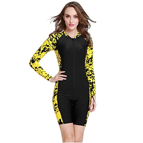Find Bargain Excursion Sports Full Body Rash Guard for Women, UV Protection Long Sleeves One Piece W...