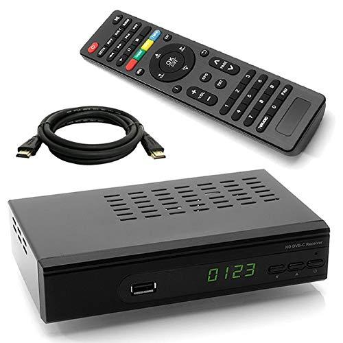 netshop 25 WWIO Trinity C HD Kabel Receiver + HDMI Kabel für digitales Kabelfernsehen (HDMI, SCART, USB, LAN) leistungsfähiger Chipsatz mit USB Mediaplayer (alle Deutschen Kabelnetze)