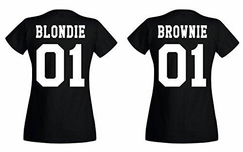 TRVPPY BFF Damen T-Shirt/Modell Blondie, Schwarz/Gr. S