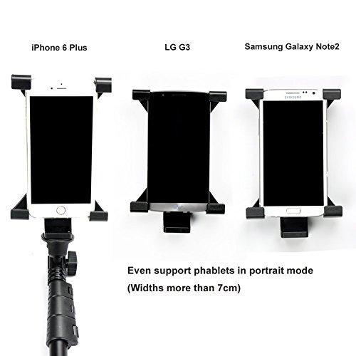 Itian Universale Treppiede Tablet Montaggio per iPad, Samsung Tab e Altre Pasticche, Phablets Smart Phone - Utilizzare su Monopiede, Bastone Selfie