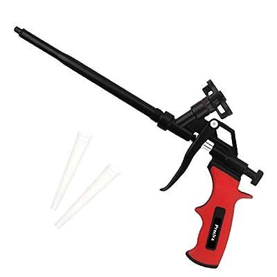 Foam Gun, Preciva Professional Foaming Gun Heavy Duty PU Expanding Foam Gun Caulking Gun Spray Application Applicator for Caulking, Filling, Sealing, Home and Office Use