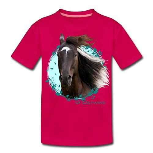 Spreadshirt Ostwind Aris Ankunft Ostwind Porträt Teenager Premium T-Shirt, 158-164, Dunkles Pink