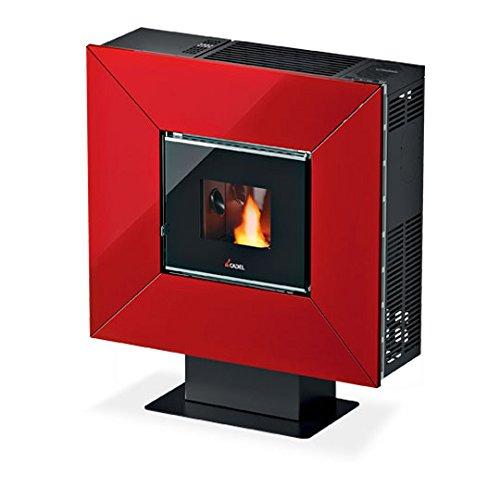Cadel Cloe 6,5Kw rosso vetro