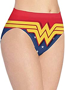 XCNGG Bragas Ropa Interior de Mujer Won-Der Wo_Man Anime Women's Panties Cotton Stretch Seamless Panty Briefs