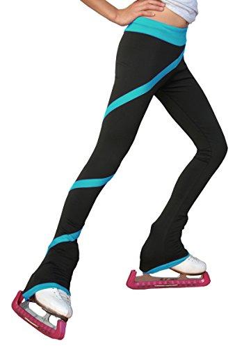 Chloe Noel Figure Skating Spiral Pants P06 Turquoise...