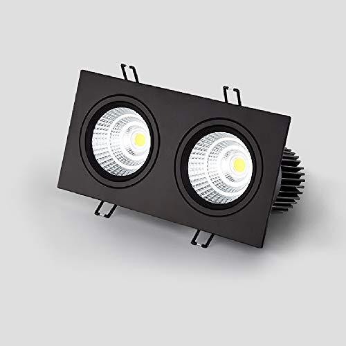 Lámparas LED de alta la luz 2-luces empotradas Focos moderna COB Comercial techo Focos de techo ahorro de energía de panel plano comercial Embedded integrado Montaje Oficina Comercial rejilla de Luz