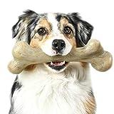 Pet Qwerks Extreme Dinosaur BarkBone Dog Chew Toy, Bacon Flavor, XXXLarge