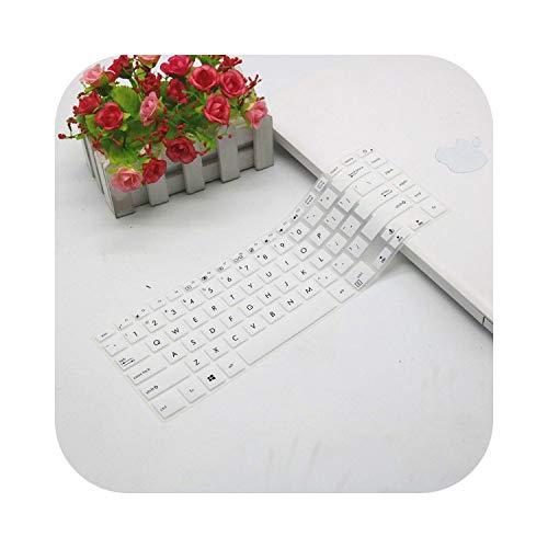 Para Asus Zenbook Pro 15 Ux580Ge Ux580Gd Ux580 15.6 Pulgadas Protector de teclado de silicona Protector de piel Protección-Blanco-