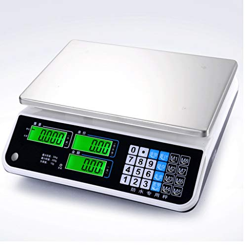 Sale!! ZYY Waterproof Electronic Scale,Seafood Aquatic Price Commercial Platform Accurate Kitchen ...