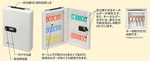 ナカバヤシダイヤル式キーボックス20個収容NKB-D02