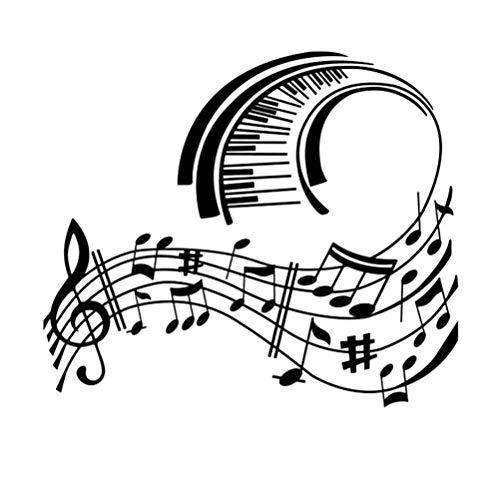 Garneck Muursticker Muzieknoot Decoratieve Piano Pvc Verwijderbare Zelfklevende Muurstickers Voor Danskamer Slaapkamer