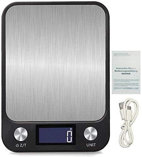 bilancia da cucina jenki Flügel Multifunzione Bilancia Cucina Digitale Bilancia Elettronica Bilancia per Alimenti accuweight Bilancia Digitale Bilancia di precisione Display LCD retroilluminatoricarica USB 1g/10 kg