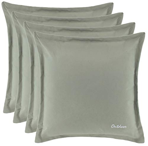 Coussin d'extérieur - Résistance à la saleté et à l'eau - Fermeture éclair de 2 cm - 350 gDimensions :48 x 48 cm. 4er-Vorteilspack stone