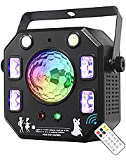 Party Light DJ Light, WorldLite LED Stage Light 4 in 1 with Magic Ball, LED Pattern Lights, LED Strobe Light and UV Effect, Great for Stage & DJ Lighting, Wedding Church Party Club Disco Lighting