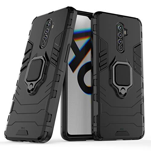 """Max Power Digital Funda para móvil Realme X2 Pro (6.5"""") con Soporte Anillo Metálico - Carcasa Híbrida Antigolpes Resistente (Realme X2 Pro, Negro)"""