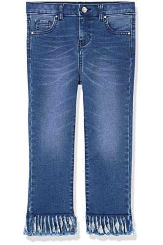 Amazon-Marke: RED WAGON Jeans Mädchen mit Fransensaum, Blau (Blue), 104, Label:4 Years