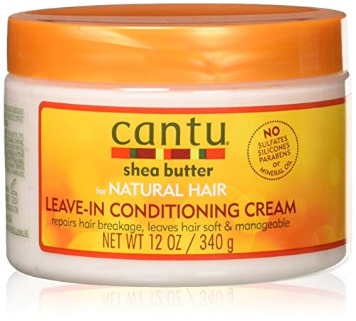 Cantu Shea Butter for Natural Hair Leave in Conditioner Repair Cream 12 Oz (Pack of 2) by Cantu