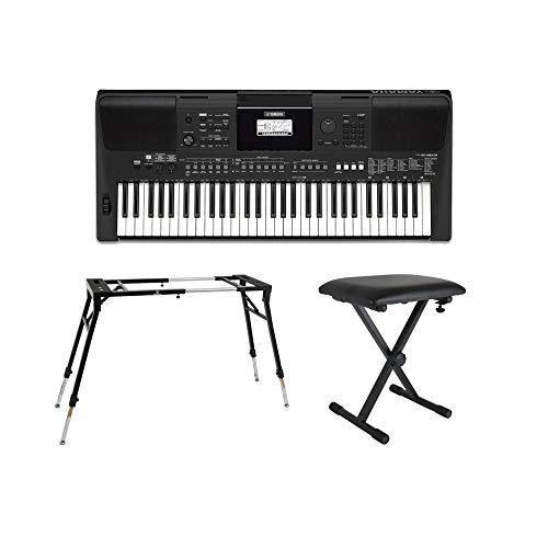 YAMAHA PSR-E463 PORTATONE 61鍵盤 電子キーボード キーボードスタンド キーボードベンチ 3点セット [鍵盤 Eset]
