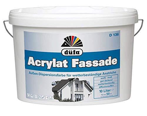 Düfa Acrylat Fassadenfarbe Außen-Dispersionsfarbe weiß matt 10 Liter