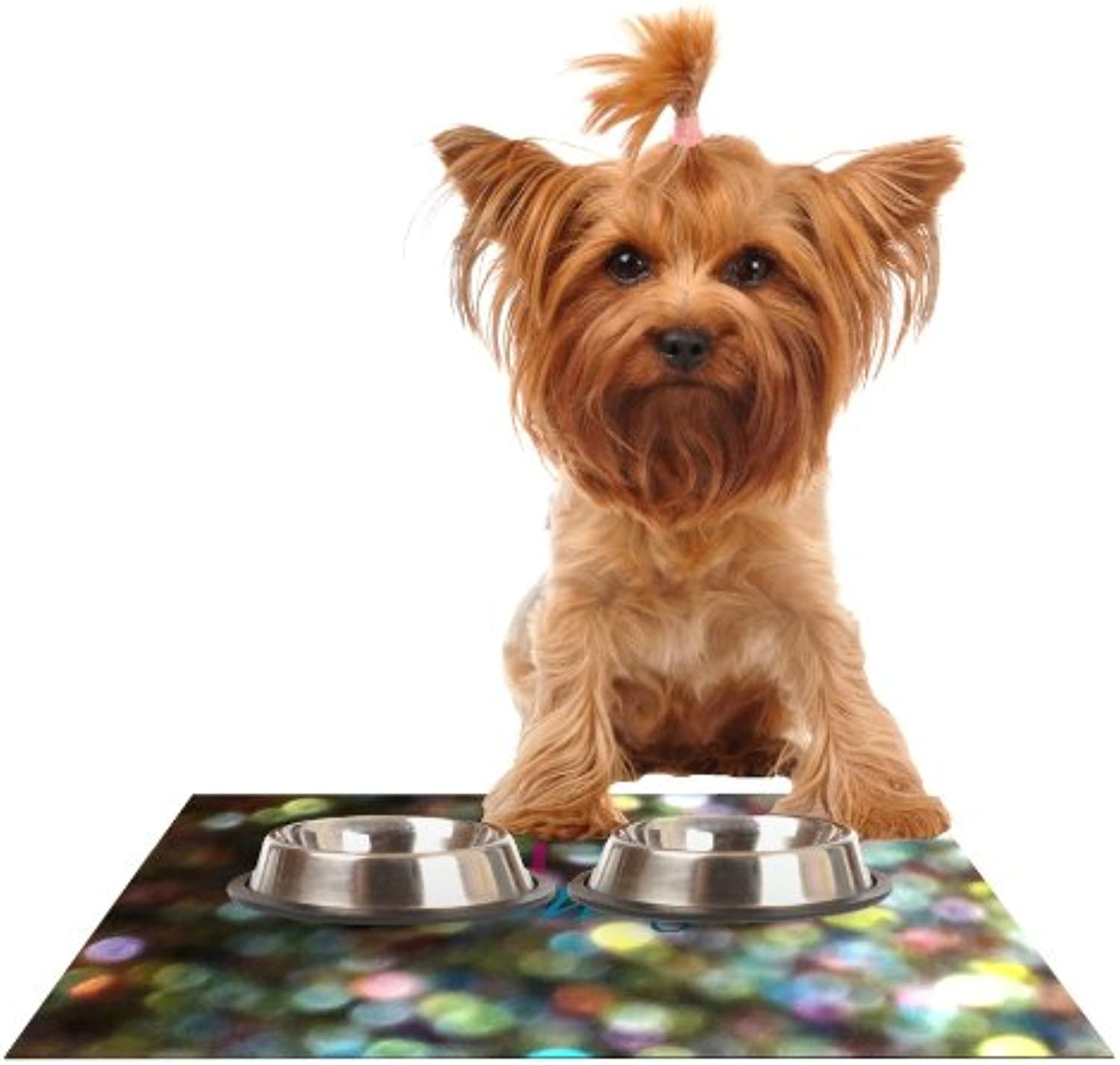 Kess InHouse Robin Dickinson You are Beautiful II  Art Object Feeding Mat for Pet Bowl, 18 by 13Inch