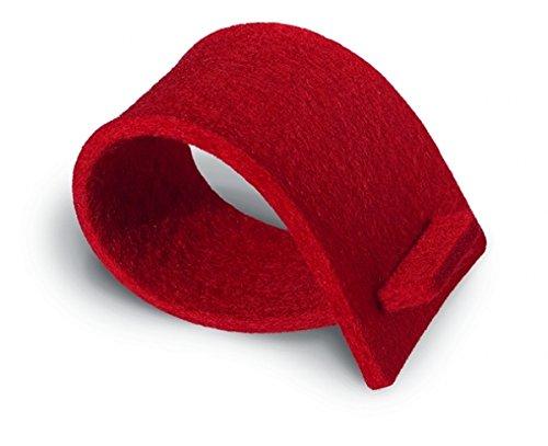 Serviettenringe aus Filz - rot