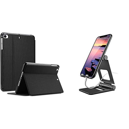 ProCase iPad Mini Case for iPad Mini 5 2019/ Mini 4, Mini 1 2 3, Slim Stand Protective Folio Case Bundle with Foldable Cell Phone Stand Tablet Stand for iPad, Kindle, Nintendo Switch up to 13'
