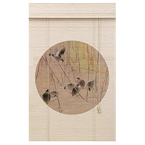 KOSGK Träpersienner romerska nyanser konstnärlig kinesisk gardin heminredning rullgardin bakgrund skiljevägg korrosionsbeständig, två stilar, anpassningsbar storlek