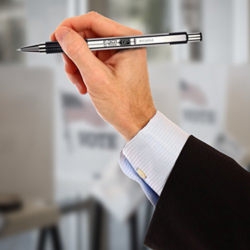 Zebra Pen F-301 Ballpoint Stainless Steel Retractable Pen, Fine Point, 0.7mm, Black Ink, 12-Count (27110) Photo #5