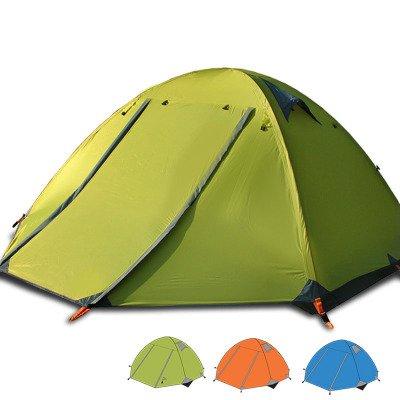 Flytop Lz01–004 3–4 saisons 3P double couche Tente de randonnée en aluminium Rod coupe-vent imperméable à l'eau pour le camping randonnée Voyage d'escalade – Facile à installer