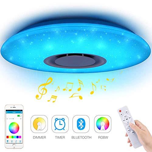 Plafonniers LED Musique 60W, YANFENG Bluetooth Music...