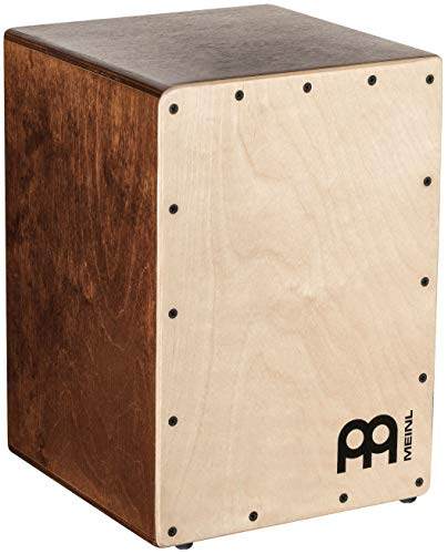 Meinl Cajon Box Drum with Internal Snares — MADE IN EUROPE — Baltic Birch Wood Compact Size, 2-YEAR WARRANTY, JC50LBNT