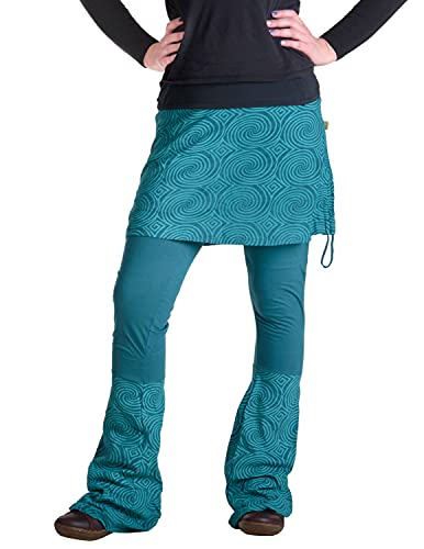 Vishes - Alternative Bekleidung - Rock- Schlag- Hosen Kombination - Lange Größe türkis 38