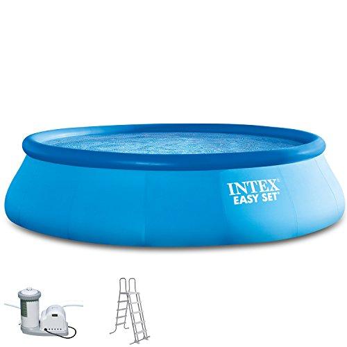 Intex 549x132 cm Easy Komplett-Set bestehend aus Swimming-Pool, Filter-Pumpe und Pool-Leiter 289033