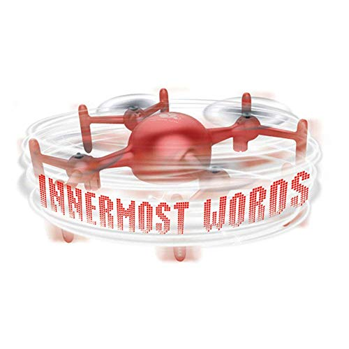 LDDZB APP Text Editing Aircraft Four Axis Drone Intelligent Floating Flying Saucer Boy Adult Remote Control Helicopter Toy Party Game,Red (Color : Red)