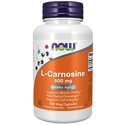 Now Foods | L-Carnosin | 500 mg | 100 vegane Kapseln | glutenfrei