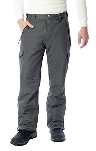 ARCTIX Men's Cargo Snow Pants, Large, Charcoal