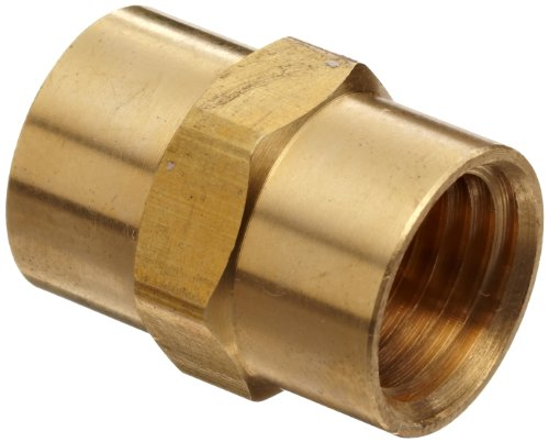 Anderson Metals 56103-08 Brass Pipe Fitting, Coupling, 1/2 x 1/2 Female Pipe