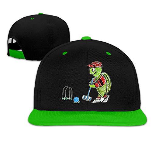 Unisex Croquet Turtle Cool Hip Hop Gorra de béisbol con Cierre Ajustable en la Espalda