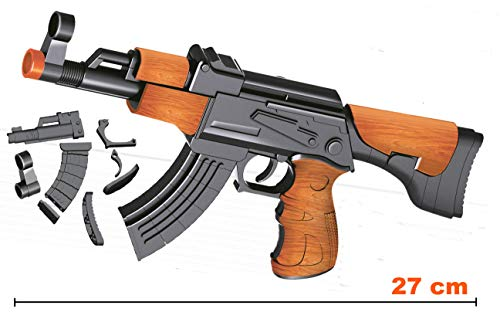 DIY AK 47 Kalaschnikov Sturmgewehr Modell (B) Bausatz im Maßstab 1:6,Puzzle Baukasten mit 67 Teilen,Einfach zu bauen ohne kleben,Deko Waffe,Replika Gewehr,Waffenmodell,Spielzeugwaffe,Waffenimitat