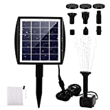 BLOOMWIN Solar Powered Fountain Pump, Solar Fountain for Birdbath, 2.0W Solar Fountain Water Pump Kit with Panel for Pond Birdbath Pool Goldfish Patio Garden