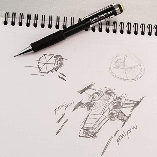 Pentel Twist-Erase III Automatic Pencil with 2 Eraser Refills, 0.9mm, Assorted Barrels, 2 Pack (QE519BP2-K6)