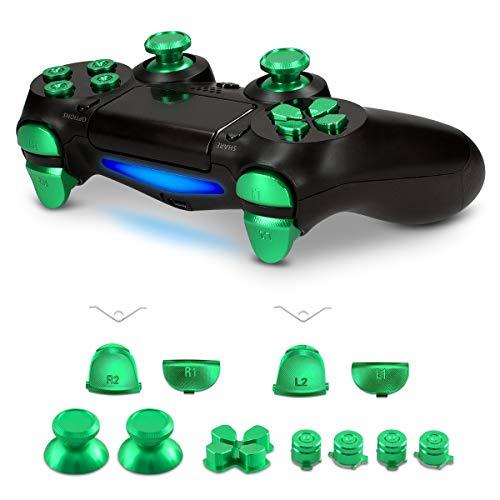 kwmobile Ersatztasten kompatibel mit Playstation 4 Controller (1. Gen) - mit Schultertasten - Aluminium Ersatz Tasten