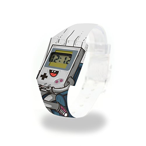 COMPUTER LOVE - Pappwatch - Paperlike Watch - Digitale Armbanduhr im trendigen Design - aus absolut reissfestem und wasserabweisenden Tyvek® - Made in Germany, absolut reißfest und wasserabweisend