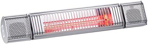 Semptec Urban Survival Technology Semptec Elektroheizung: Low-Glare-IR-Heizstrahler mit Bluetooth, Lautsprecher & App, 2.000 W (Decken-Infrarot-Heizstrahler) - 3