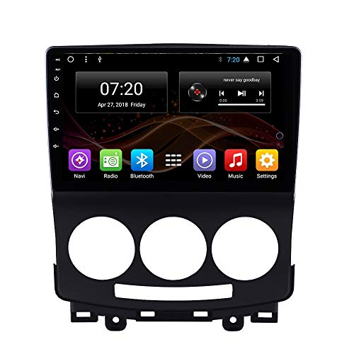 2.5D IPS Android 8.1 Car DVD Radio GPS Navigation for Mazda 5 2005-2010 Stereo Audio Navi Video with Bluetooth Calling WiFi Touch Screen (Android 8.1 1+16G for Mazda 5 2005-2010)
