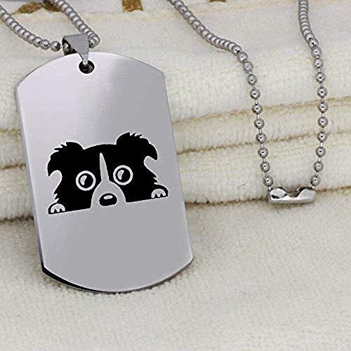 niuziyanfa Co.,ltd Collar con Colgante de Etiqueta de Perro Joyas de Acero Inoxidable para Hombres Collar para Amantes de los Perros